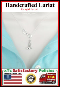 Cowboy Decorated Boot Handcraft Necklace Lariat Style. Perfect Gift for CowGirl.