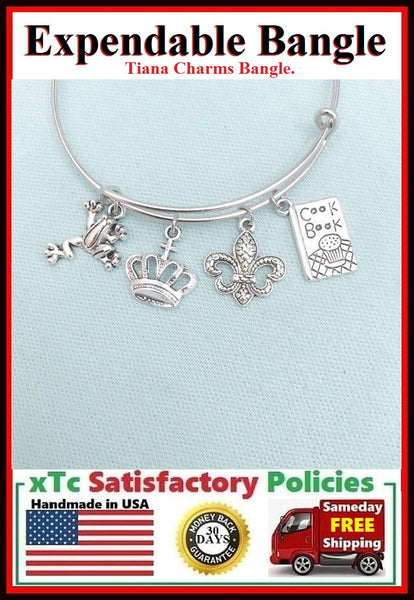 "Bangle Inspiration ""TIANA"" Theme Charms"