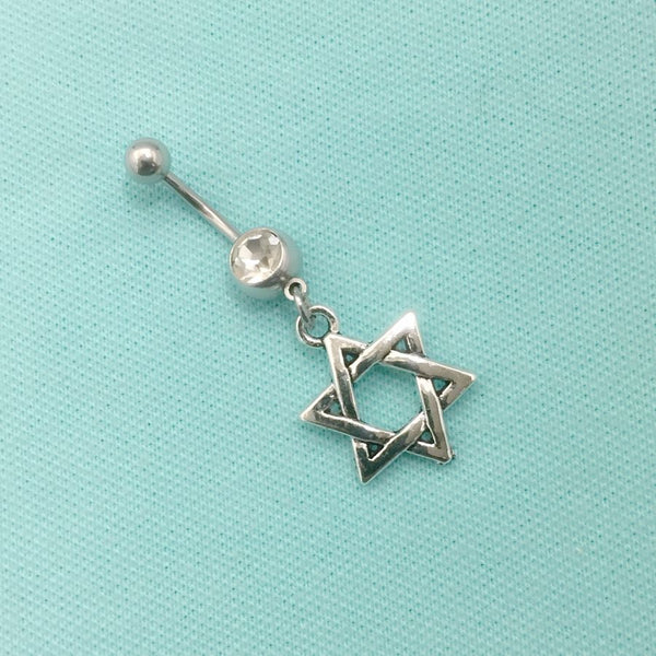 Star David Surgical Steel Handmade Belly Ring