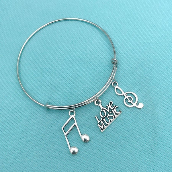 Music Lover, Music Charms Expendable Bangle.