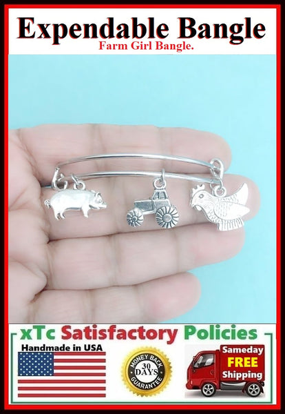 Gorgeous Farm Girl Charms Bangle.
