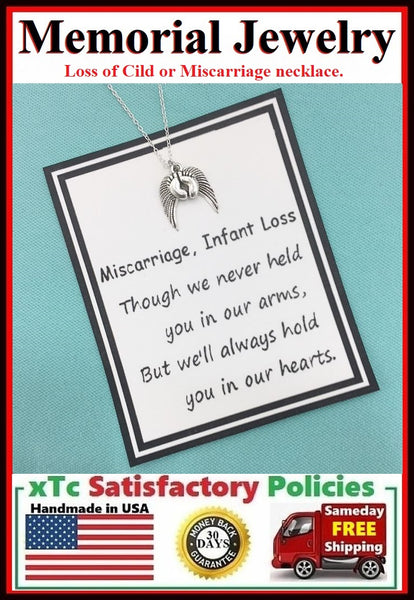 Loss of Child, Miscarriage Memorial Charms Necklace.