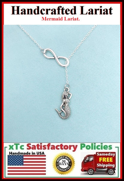 Mermaid Necklace Lariat Style. Perfect Gift for Ariel Lover.