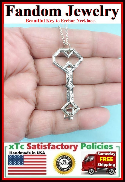 Thorin's Key to Erebor Silver Charm Necklace.