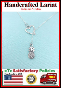 Welcome Fruit PINEAPPLE Necklace, Lariat Style.
