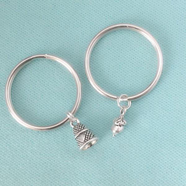 HOLD on TO Your KEYRING and REMEMBER the MOMENT of Your KISS. 2 Keyring Set.