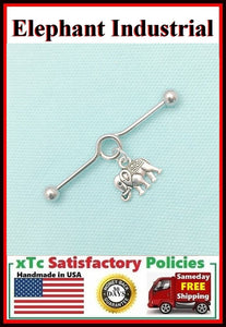Elephant Charm Surgical Steel Industrial.