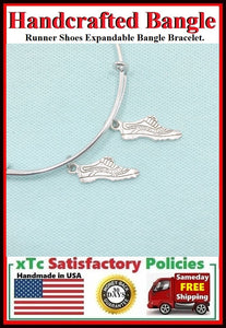 Runner Shoes Expendable Charms Bangle.