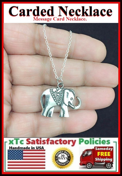 Gorgeous GoodLuck ELEPHANT Charm Necklace.