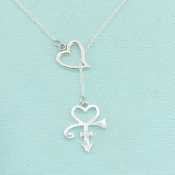 Singer's Love Symbol Lariat Y Necklace.
