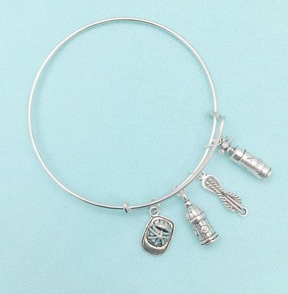 Uniquely Beautiful Firefighter's Charms Expendable Bangle.