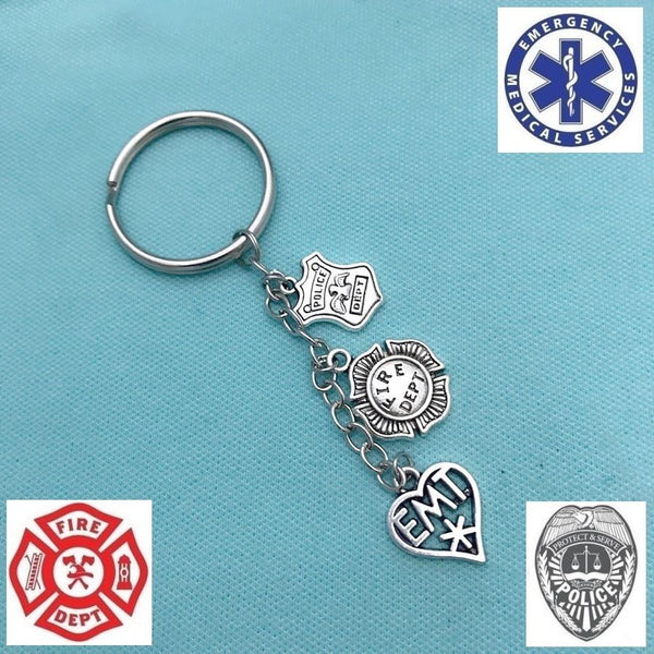 Perfect Key Ring for FIREFIGHTER, POLICE, EMT, 911 Dispatcher.