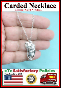 Singer Gift. Old Fashion Studio Mic with Sing Charms Necklace.