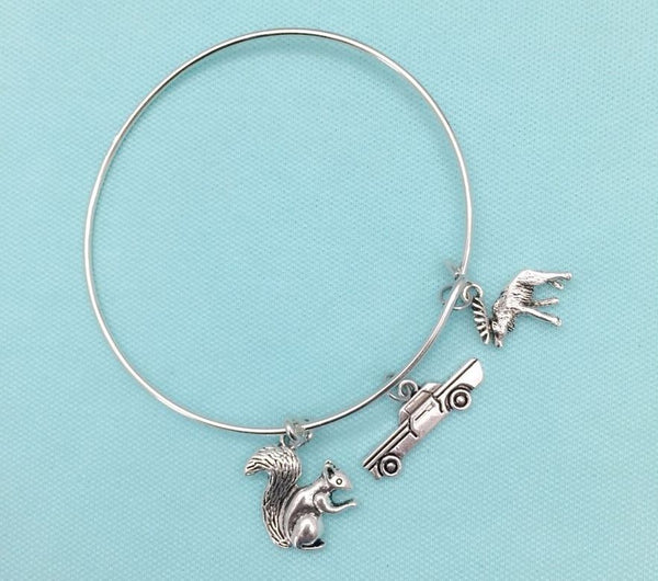 Moose & Squirrel Dean & Sam Crowly Impala Supernatural Bangle.