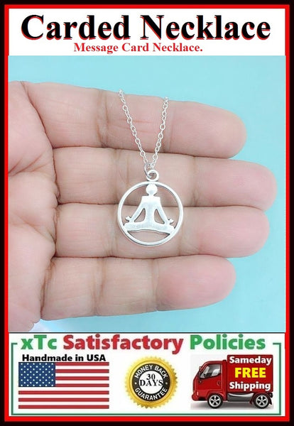 Yoga Gift; Handcrafted Yoga Pose Silver Charm Necklace.