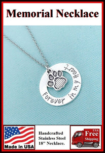 Handcrafted PET Memorial Stainless Steel Necklaces.
