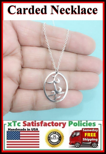 (Closer Than Brother) PARABATAI Rune Charm Carded Necklace.