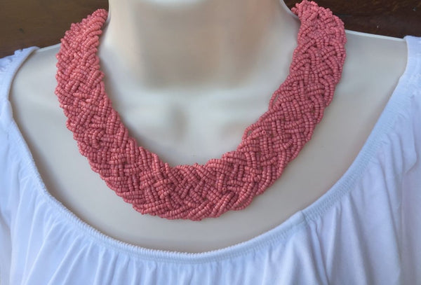 Beautiful Multiple Bead Stings Statement or Bib Choker.