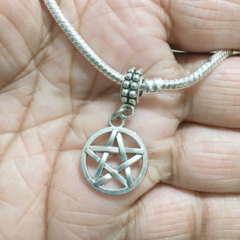 Supernatural Lovers Pentagram Silver Bead For Charm Bracelet