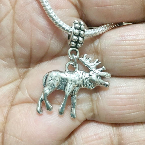 Supernatural Lovers Moose Silver Bead For Charm Bracelet