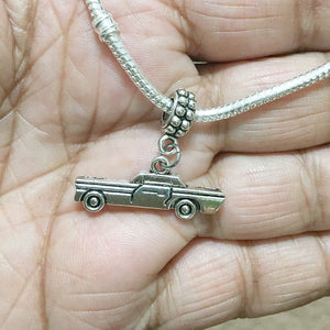 Supernatural Lovers Chevy Impala Silver Bead For Charm Bracelet