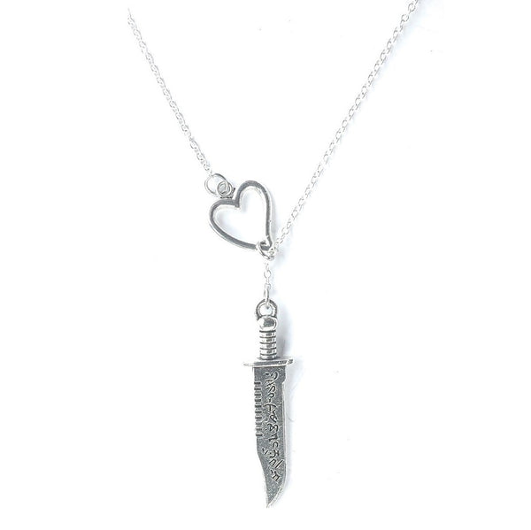 Ruby's Knife Supernatural Silver Lariat Y Necklace.