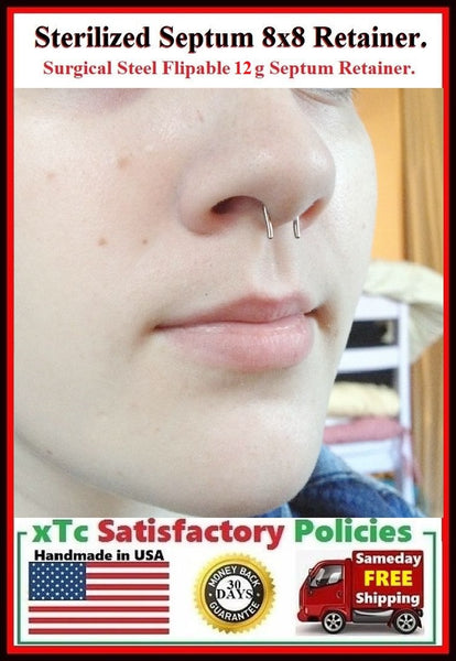 8X8mm 12g Sterilized Surgical Steel Septum Retainer