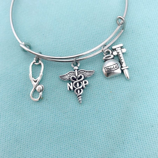Medical Bracelet : NP Related Charms Expendable Bangle.