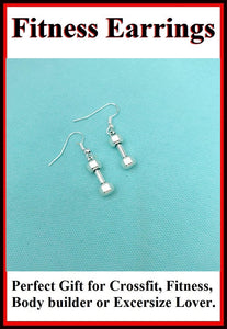Beautiful Handcraft Dumbbell Charms Dangle Earrings.