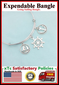 Going Sailing Charms Expendable Bangle.