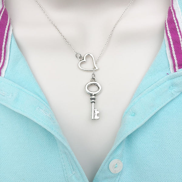 Mary Margaret OUAT Silver Key Lariat Y Necklace.