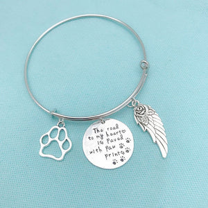 Animal Lovers: Gorgeous Dog Memorial Charms Expendable Bangle.