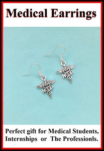 Medical Earring; Nurse Pracitioners Charms Dangle earrings.