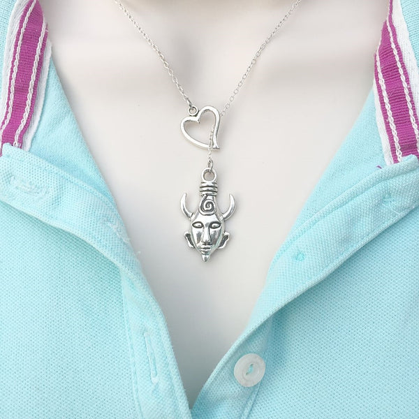 Supernatural Samulet Silver Lariat Y Necklace.