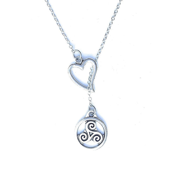I Love Teen Wolf Triskelion Silver Lariat Y Necklace.