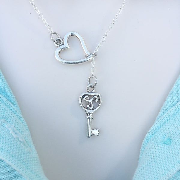 I Love Teen Wolf Triskelion Key Silver Lariat Y Necklace.