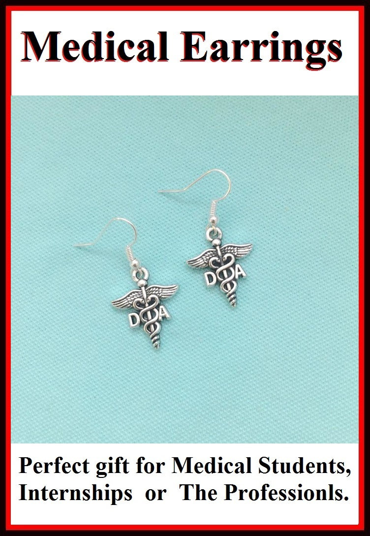 Medical Earring; Dental Assistant Charms Dangle earrings.