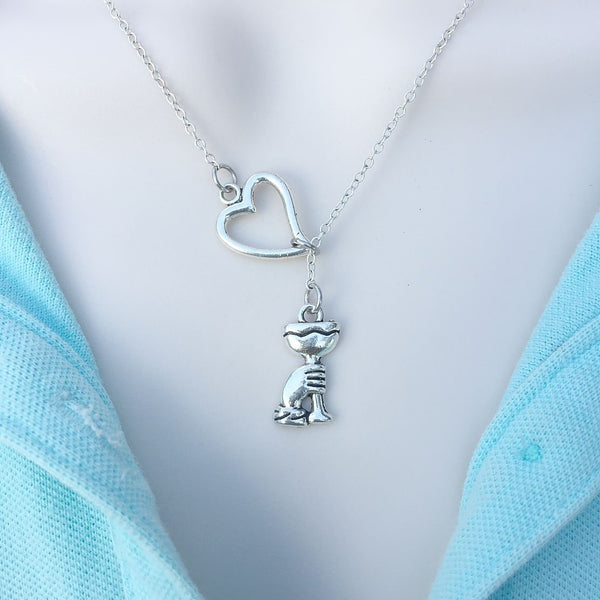 I Love Olympics Silver Torch Lariat Y Necklace.