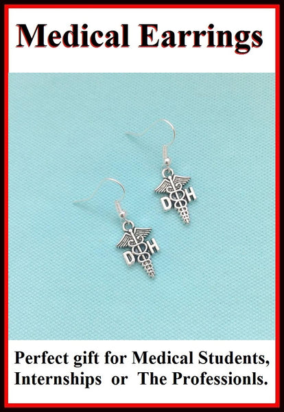 Medical Earring; Dental Hygienist Charms Dangle earrings.