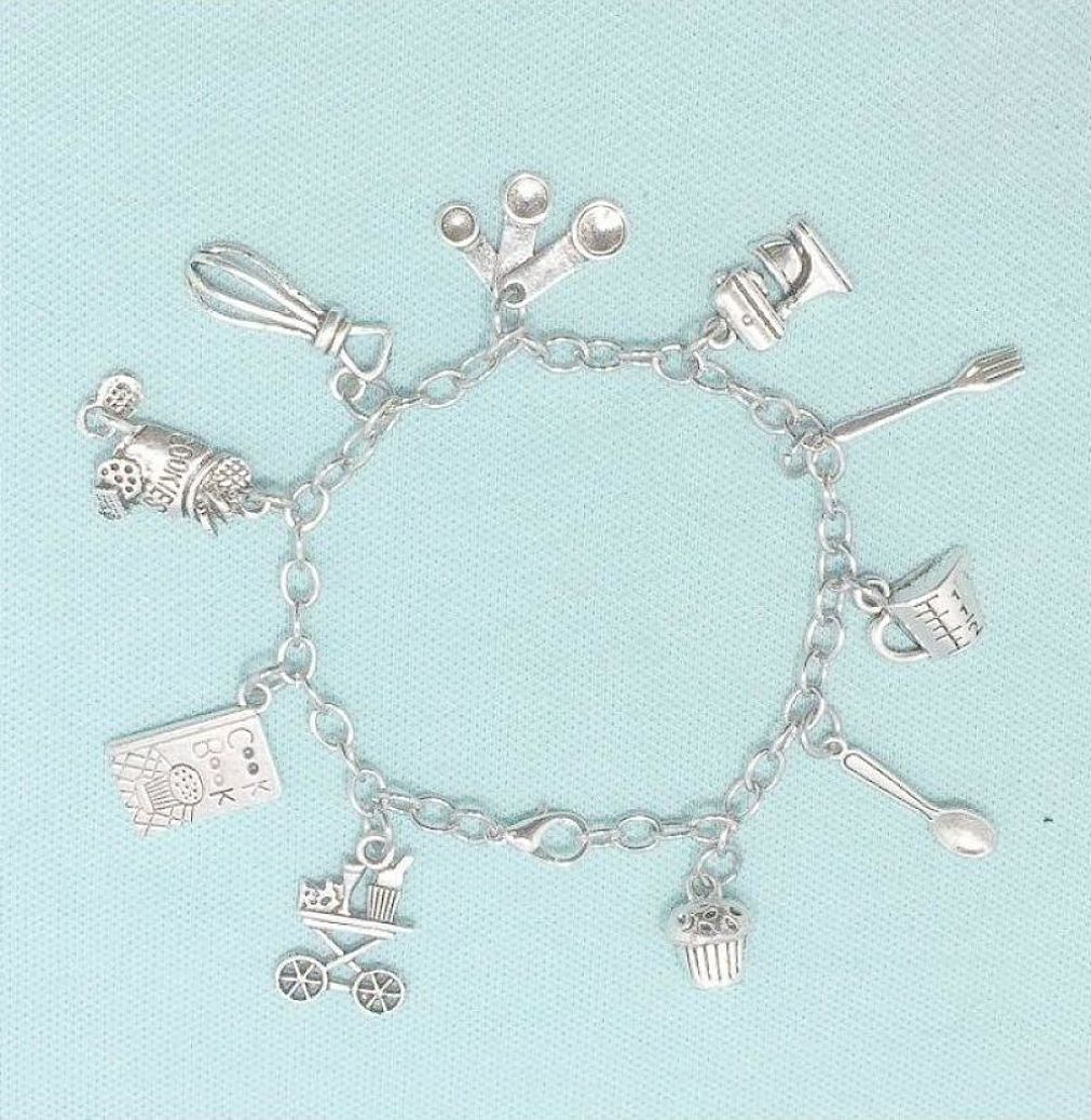 Cook's Kitchen Charms Stainless Steel Bracelet.