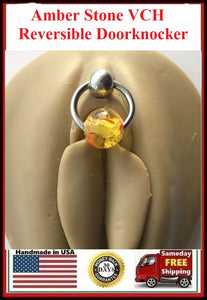 Amber Stone Reversible VCH Door Knocker with Heavy Ball for Extra Pressure.