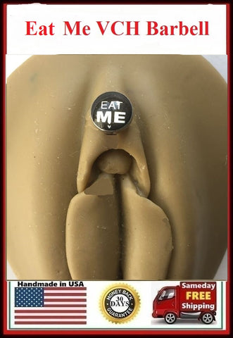 EAT ME Logo VCH HEAVY BALL Piercing Barbell for EXTRA PRESSURE