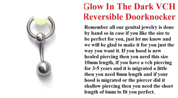 Glow In The Dark Reversible VCH Door Knocker with Heavy Ball for Extra Pressure.