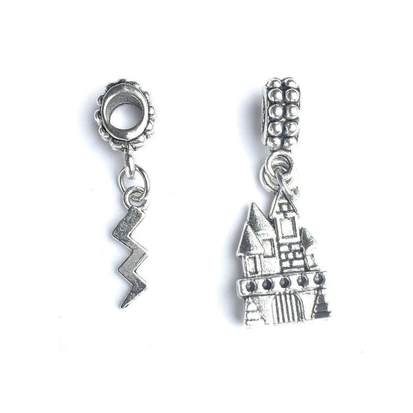 Harry potter theme Castle and Lighting Charms Fit Beaded Bracelet