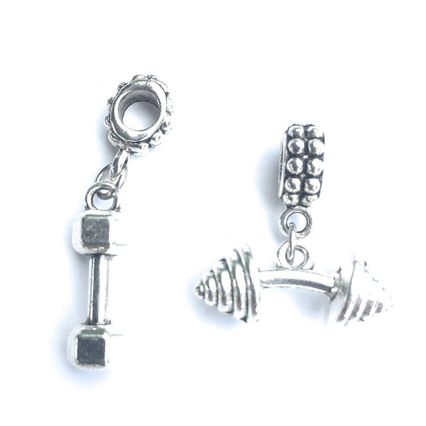 Beautiful Handcrafted Dumbbells Charms for Bracelet.