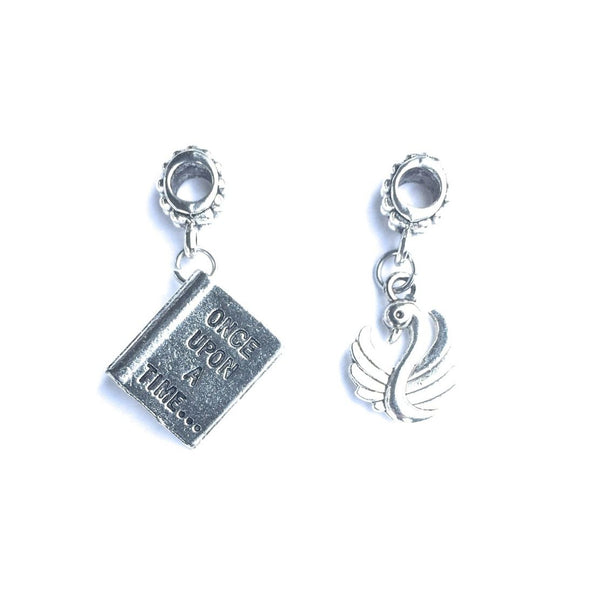 OUAT; OUAT Novel and Swan Charms Fit Beaded Bracelet