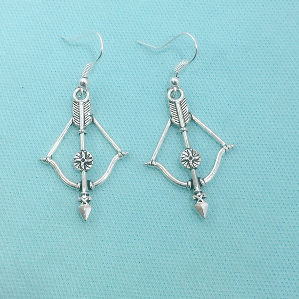 Walking Dead Stunning Bow n Arrow Charms Earrings.