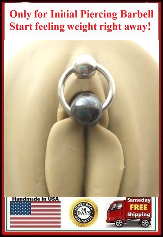 Initial Piercing Hematite VCH Barbell, Start Feeling Weight Right Away.