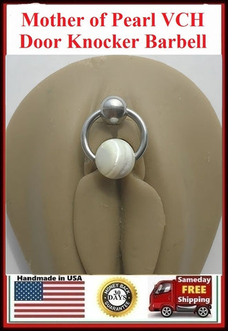 Mother Of Pearl Reversible Door Knocker VCH Piercing Barbell.