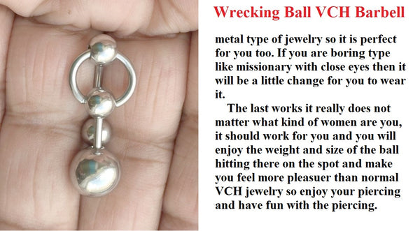 Wanna Beat Your Meat; WRECKING BALL VCH Barbell.